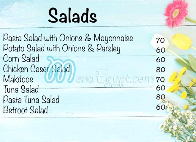 Gados Chef menu