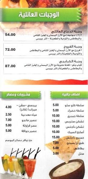 Lets Burger menu Egypt