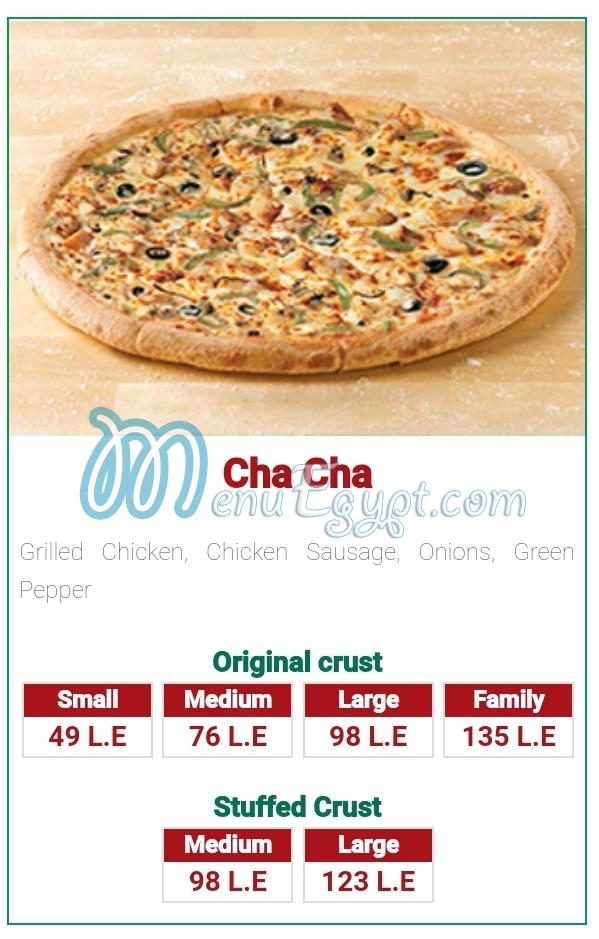Papa Johns menu prices