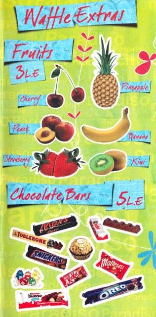 Paradiso Creamy menu Egypt