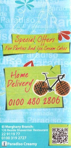 Paradiso Creamy delivery menu
