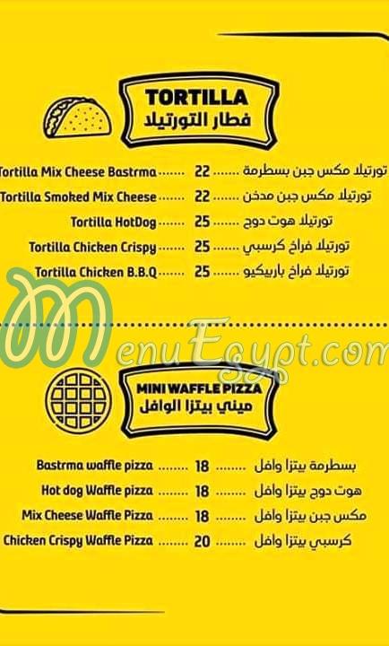 Waffle Art menu