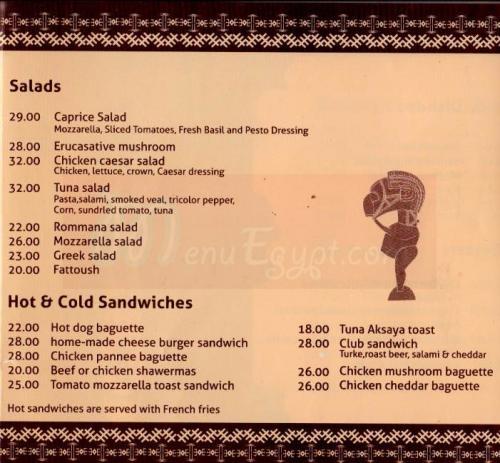 Akasya delivery menu