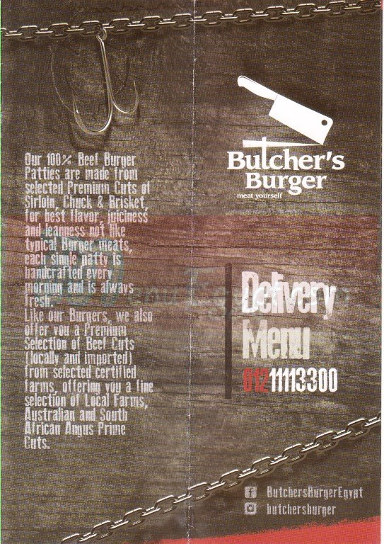 Butcher House menu Egypt 1