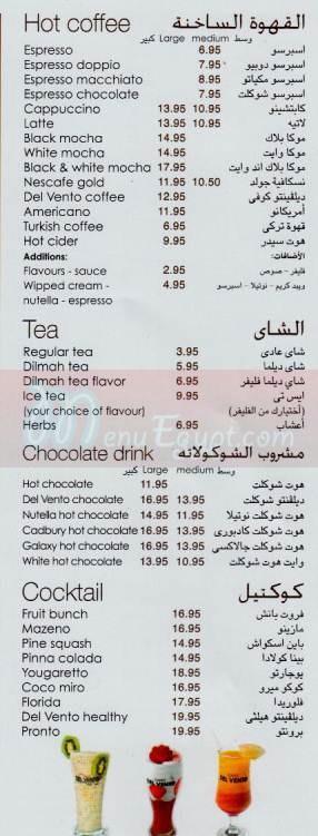 Del Vento Caffe&Restaurant delivery