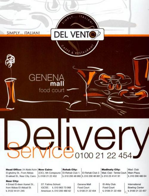 Del Vento Caffe&Restaurant menu prices