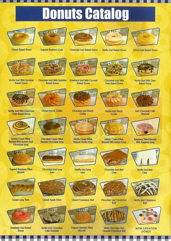 Dixie Cream Donuts menu