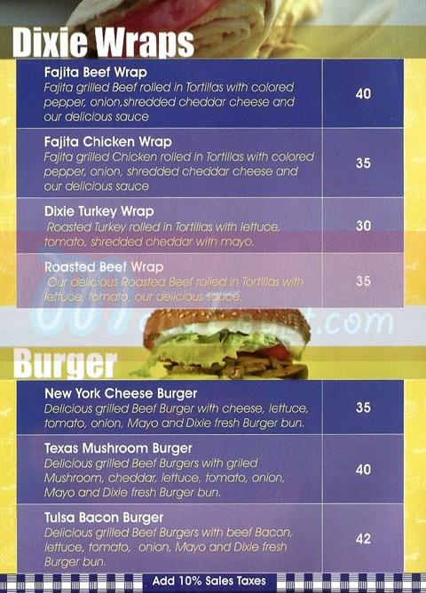 Dixie Cream Donuts menu prices