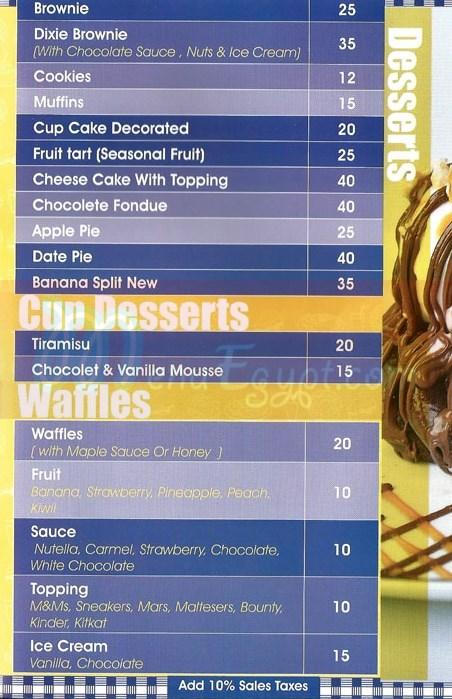 Dixie Cream Donuts menu Egypt 3
