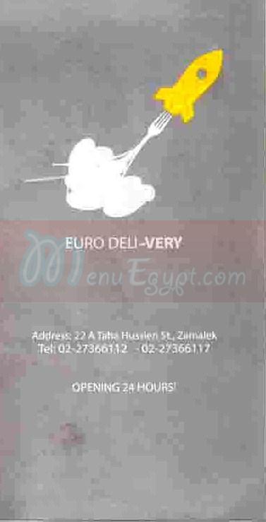 Euro Deli menu Egypt 2