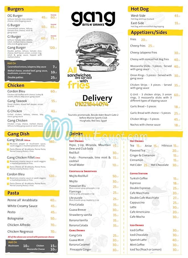 gang menu