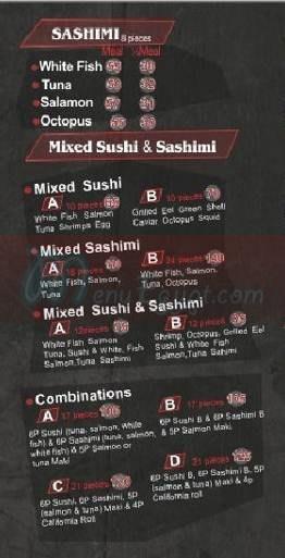 Gaya Sushi menu Egypt