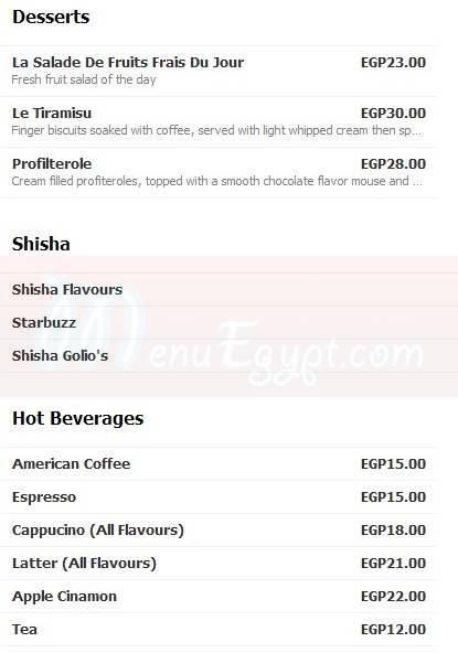 Golios menu prices