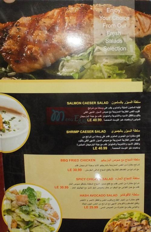 Hash Coffee menu