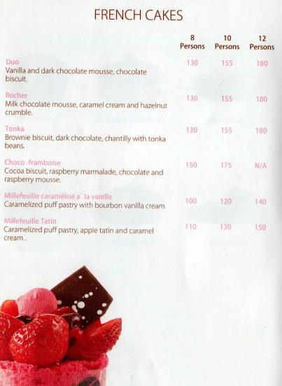 La Gourmandise delivery menu