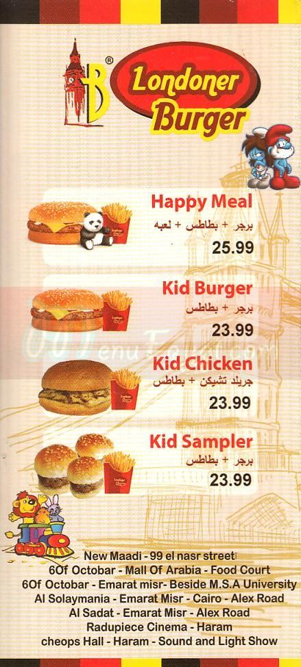 Londoner Burger delivery