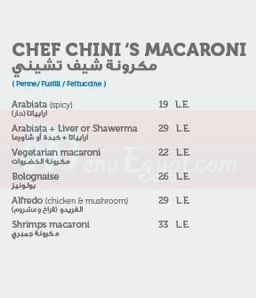 Sandwichini online menu