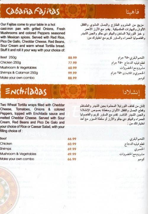 Tanoureen menu Egypt 3