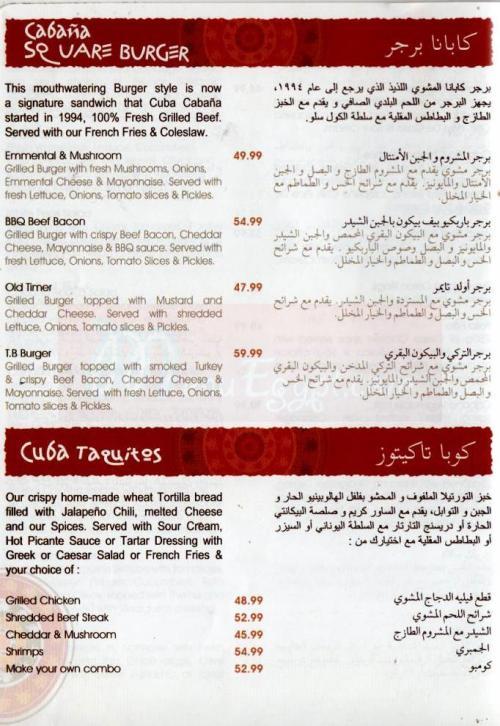 Tanoureen menu Egypt 5
