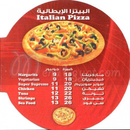 Tasty Besty delivery menu