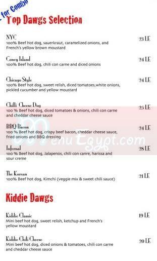 Top Dawgs menu Egypt