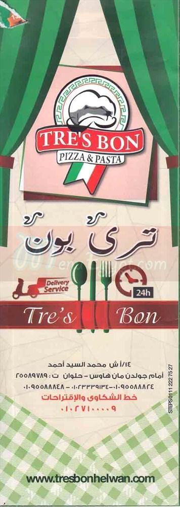 Tres Bon menu Egypt 2