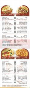 Arabiata menu Egypt