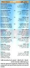 Bon Chef menu Egypt