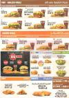 Burger king menu Egypt