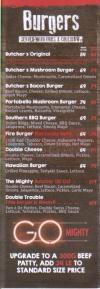 Butcher House delivery menu
