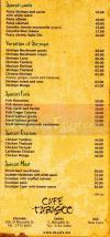 Cafe Tabasco delivery menu