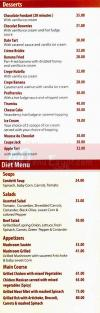 condetti  delivery menu