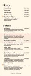 Crave Cafe Menu Prices