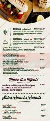 Just Falafel menu Egypt