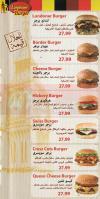 Londoner Burger menu