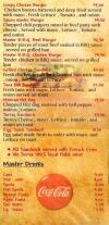 Master Burger menu Egypt