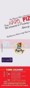 Pizza Party menu prices