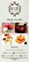 Sale Sucre online menu