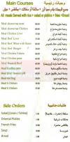 Z menu Egypt